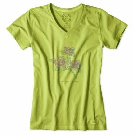 Life is Good - Ladies Crusher T-Shirt ChartreuseGr