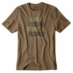 Life is Good Crusher T-Shirt Dark Brown