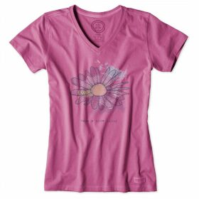 Life is Good - Ladies Crusher T-Shirt Frsh Raspber