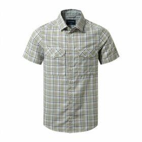 Wensley Short Sleeved Shirt Quarry Grey Combo