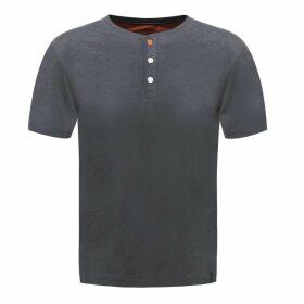 Button Up T-Shirt Ebony Marl