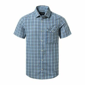Warby Short Sleeved Shirt Deep Blue Combo