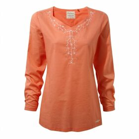 Rayna Long Sleeved Top Bright Papaya