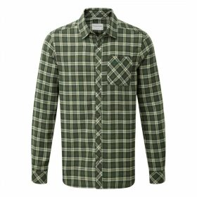 Brigden Long Sleeved Check Shirt Parka Green