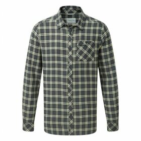Brigden Long Sleeved Check Shirt Dark Grey