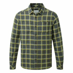Gillam Long Sleeved Check Shirt Dark Grey