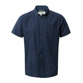 Deacon Short Sleeved Shirt Night Blue Combo