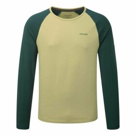 Maple Long Sleeved T-Shirt Light Olive Marl