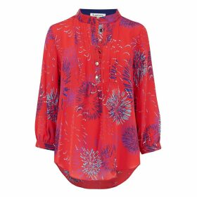 Libelula - Delphine Top Red Fireworks Print