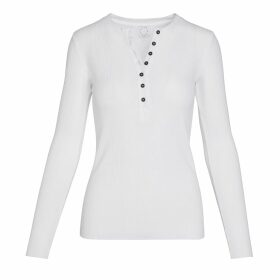 IN. NO - Crystal Metallic Purple Knit With Feather Cuff