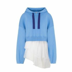 IN. NO - Blue Brittney Organza Layered Hoodie