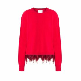 IN. NO - Red Icelyn Feather Sweater