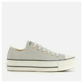 Converse Women's Chuck Taylor All Star Lift Ox Trainers - Mouse/Vintage White/Black - UK 8 - Grey
