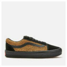 Vans ComfyCush Women's Tiny Cheetah Old Skool Trainers - Black - UK 8 - Black