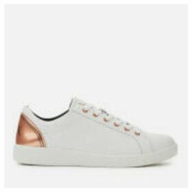 Armani Exchange Women's Leather Low Top Trainers - White/Rose Gold