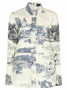Chloé Toile de Jouy print shirt - White