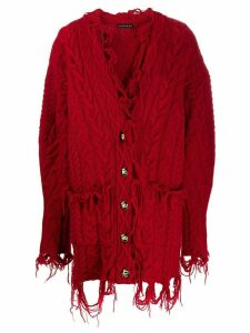 Etro destroyed effect cardigan - Red