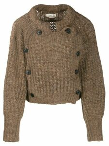 Isabel Marant Étoile double breasted sweater - Brown