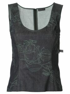 Anteprima Fiore Gloriosa vest top - Blue