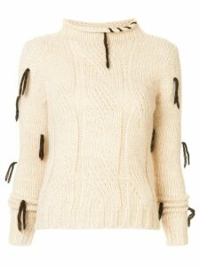 Golden Goose Hinagiko cable-knit jumper - White
