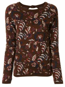 Muller Of Yoshiokubo floral intarsia jumper - Brown