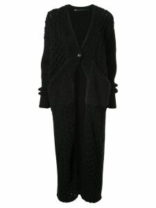 Muller Of Yoshiokubo chunky knitted cardigan - Black