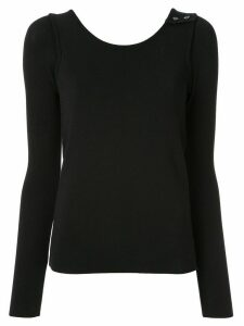 Muller Of Yoshiokubo rib top sweater - Black