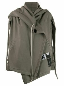 Rick Owens DRKSHDW hooded wrap zipped sweatshirt - Grey