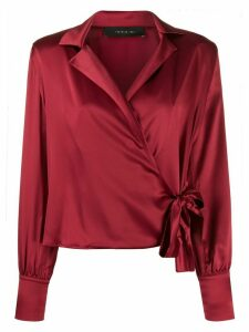 Federica Tosi wrap style blouse - Red