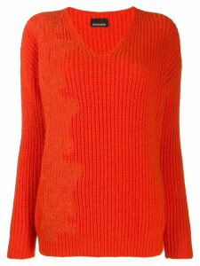 Ermanno Ermanno lace applique jumper - ORANGE