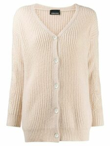 Ermanno Ermanno lace applique cardigan - NEUTRALS