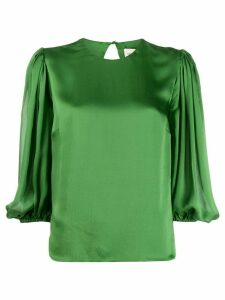 Alexandre Vauthier bell sleeve boxy blouse - Green