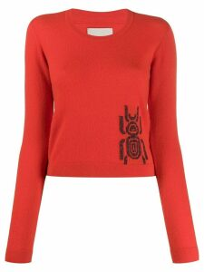 Frankie Morello embroidered long-sleeve jumper