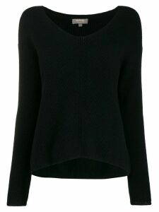 N.Peal V-neck long sleeve jumper - Black