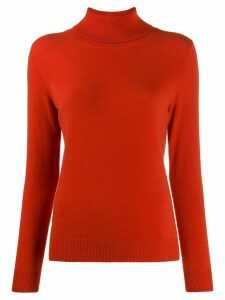 N.Peal fine knit roll neck jumper - ORANGE