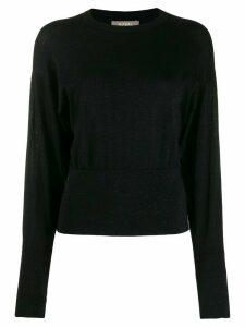 N.Peal fine knit batwing glitter jumper - Black