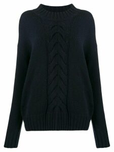 N.Peal chunky cable knit jumper - Blue