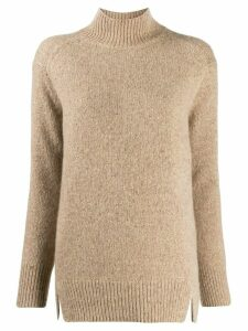 Vince cut-out turtleneck cashmere sweater - NEUTRALS