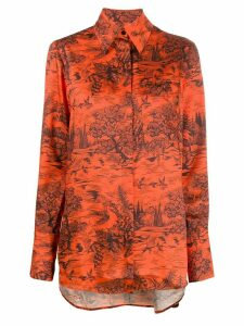 Victoria Victoria Beckham forest print shirt - ORANGE
