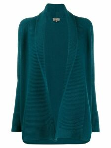 N.Peal open front ribbed cardigan - Blue