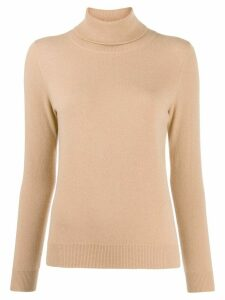 N.Peal fine knit roll neck jumper - Brown