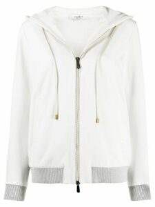 Peserico regular-fit zip-up hoodie - NEUTRALS