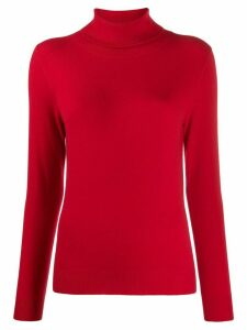 N.Peal roll neck fine knit jumper - Red