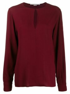 Stella McCartney keyhole-detail blouse - Red