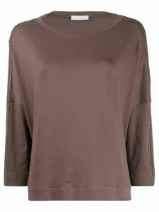 Fabiana Filippi loose-fit boat neck jumper - Brown