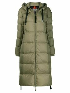 Parajumpers padded hooded midi coat - Green