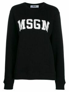 MSGM logo print sweatshirt - Black