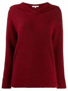 Vince hooded knit sweater - Red