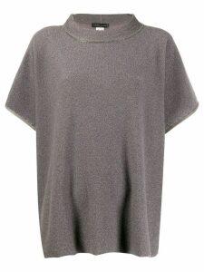 Fabiana Filippi metallic sheen knit top - Grey