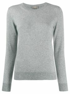N.Peal round neck glitter jumper - Grey